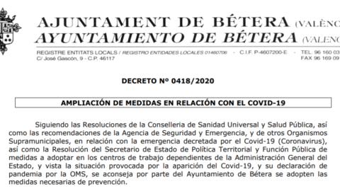 Decreto Municipal: Covid-19